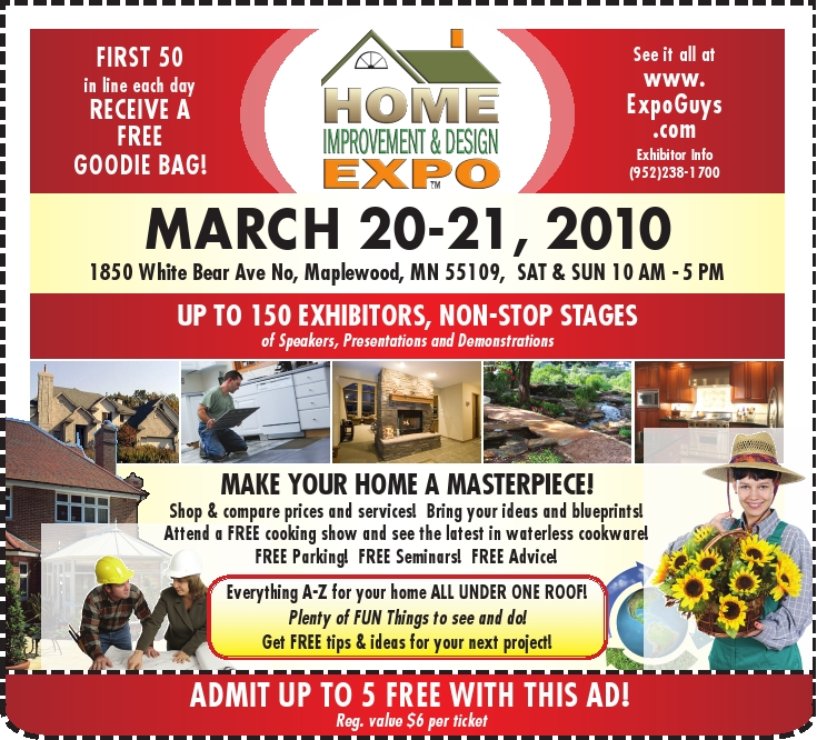 Free Tickets to the Home Improvement and Design Expo March 20-21 201