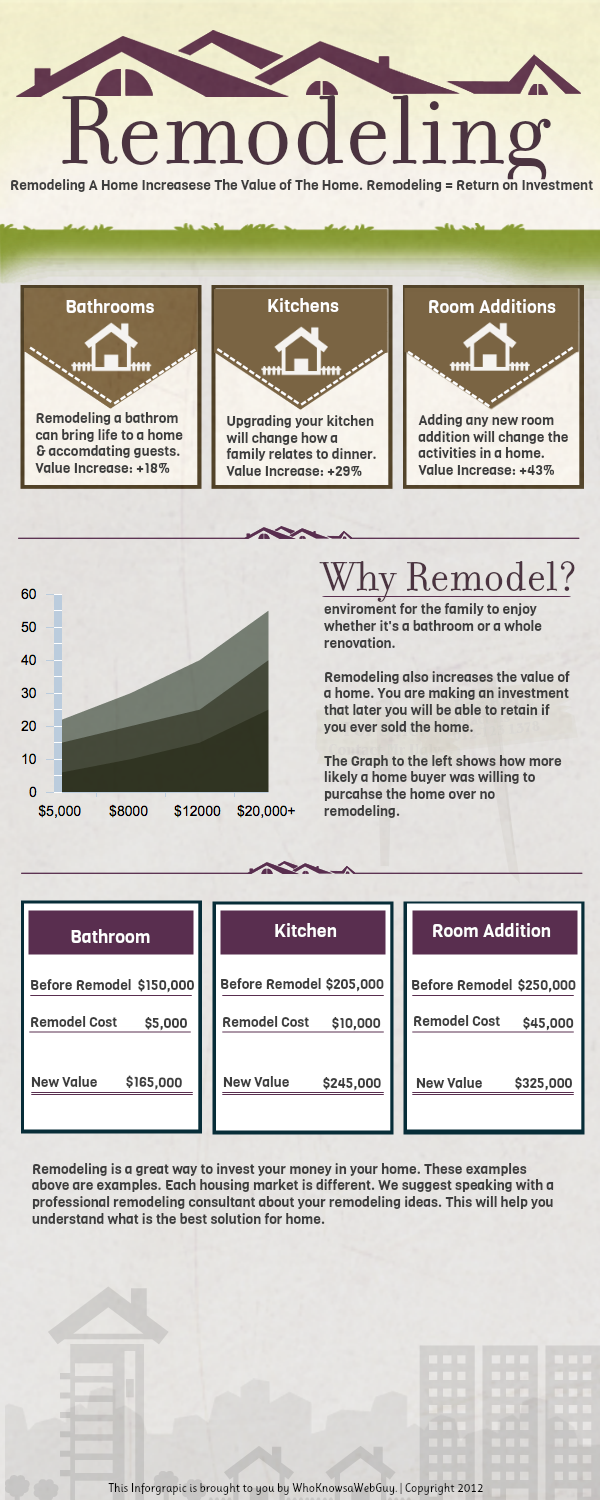 Remodeling Roi Infographic