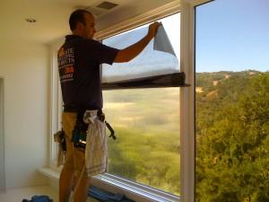 Window film install.
